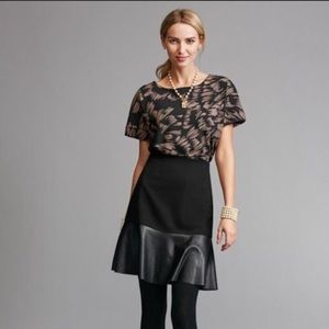 CAbi • Black Faux Leather Skirt • Sz XS